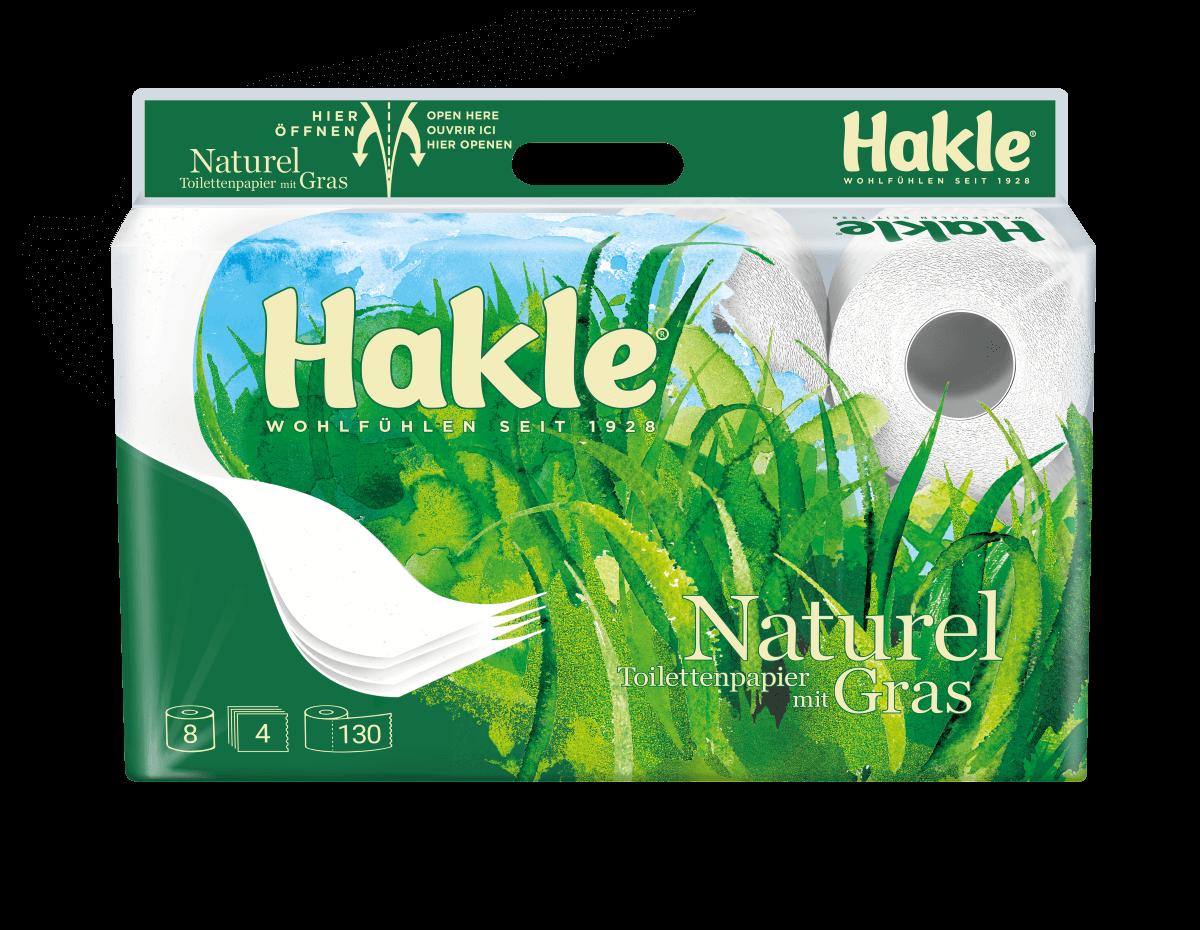 Hakle Naturel mit Gras